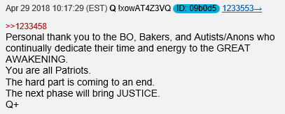 Q post next phase JUSTICE