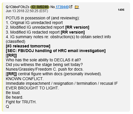 Q on IG report