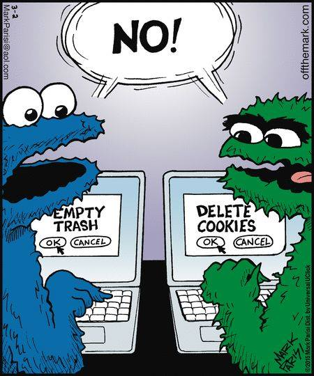 Cookie Monster and Oscar the Grouch