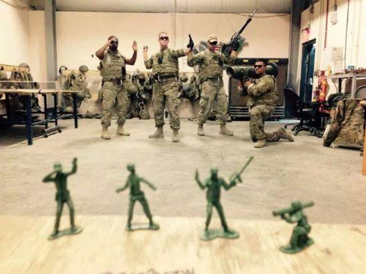 Live action plastic soldiers