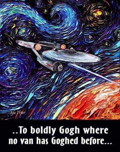 To boldly Gogh